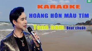 Karaoke HOÀNG HÔN MÀU TÍM - THỂ HIỂN – Karaoke Hoàng Đỉnh – Karaoke Beat chuẩn full Band