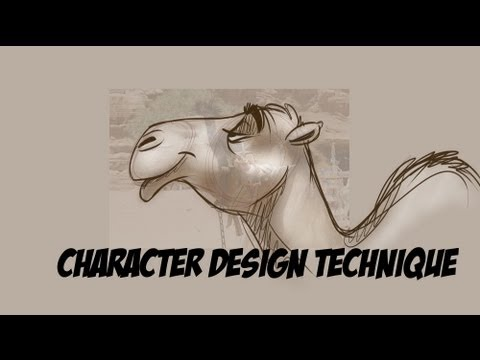 Cartoon Character Design Tutorial : EASY Technique!
