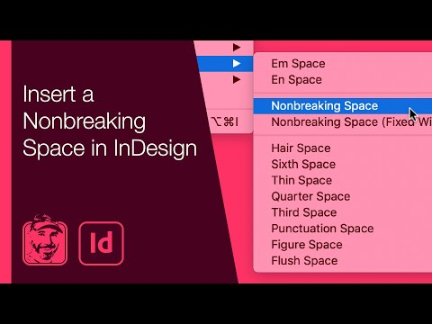 Insert a Nonbreaking Space in InDesign