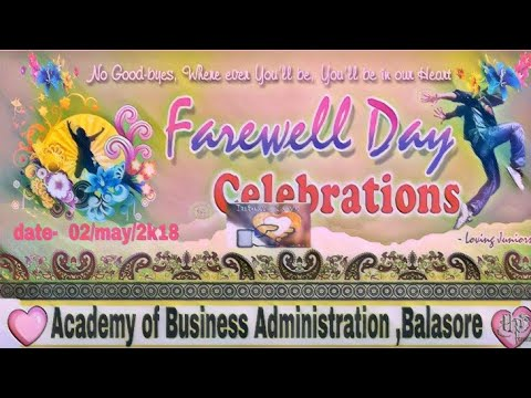 ABA college farewell celebration 2018 | aba balasore |