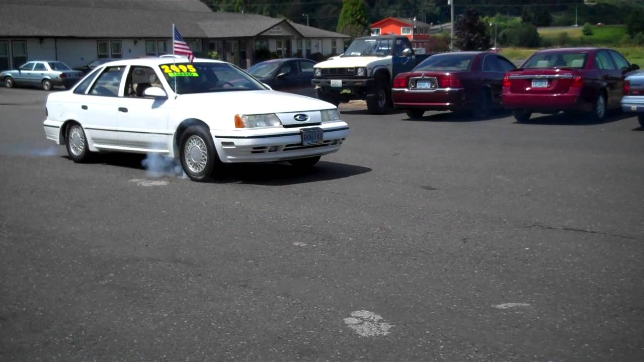 1990 Ford Taurus >> 1990 FORD TAURUS SHO BURN OFF !! - YouTube