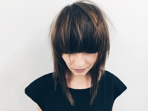 How to Cut Perfect Round Bang for Medium Length