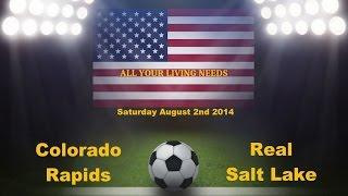 Colorado Rapids vs Real Salt Lake Predictions Major League Soccer 2014