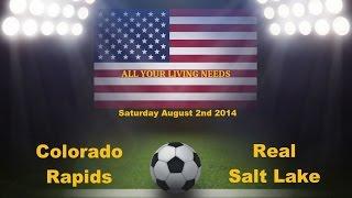 MLS Colorado Rapids vs Real Salt Lake Predictions Major League Soccer 2014