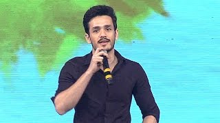 akhil speech on his debut manam 100 days oka laila kosam audio launch function