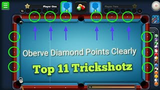 Top 11 Trickshots With Fanatic Cue - 8 Ball Pool