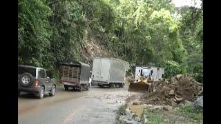 Por deslizamiento de tierra, autopista Medellín – Bogotá estuvo cerrada cerca de 15 horas