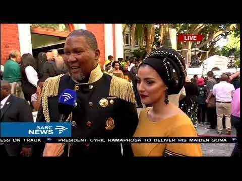 Mandla Mandela and wife arrive for #SONA2018