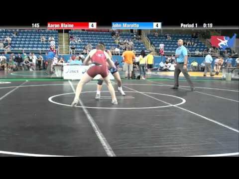 Fargo 2012 145 Round 4: Aaron Blaine (Washington) vs. John Marotto (Pennsylvania)