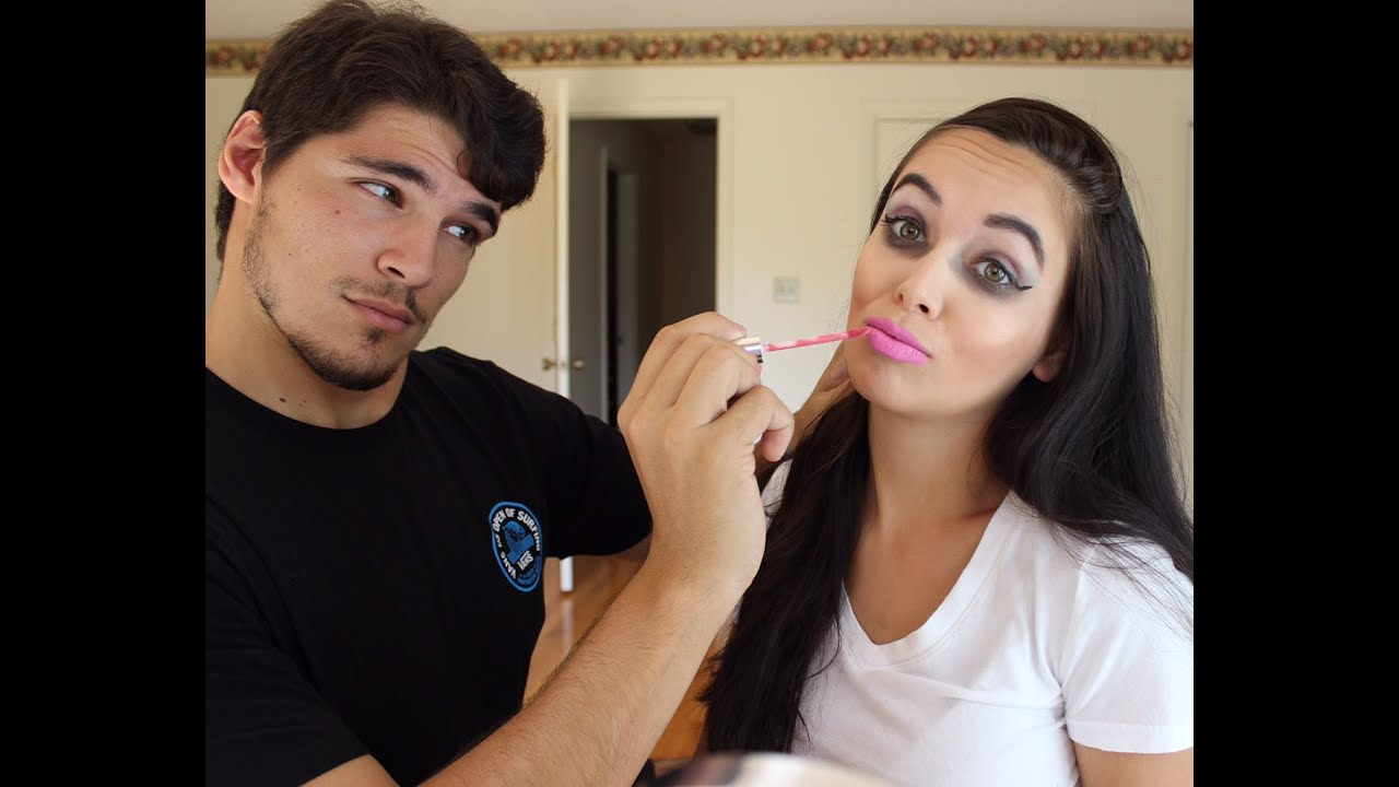 Image result for My Boyfriend Does My Makeup Challenge