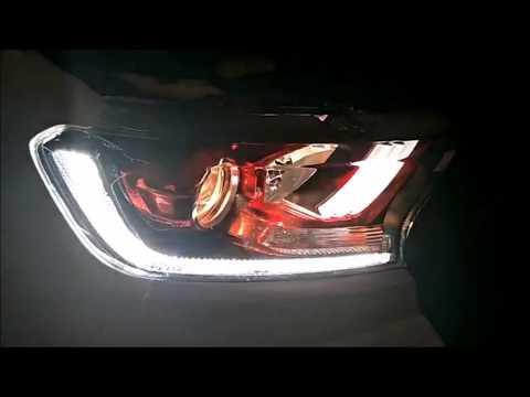 Ford Ranger Scheinwerfer mit LED TFL - YouTube