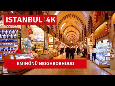 Istanbul City Walking Tour | Eminönü ,Sirkeci Neighborhood | 2 April 2021|4k UHD 60fps