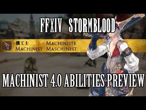 FFXIV Stormblood: Machinist 4 0 Ability Preview - No More Cast Times & Heat  Gauge