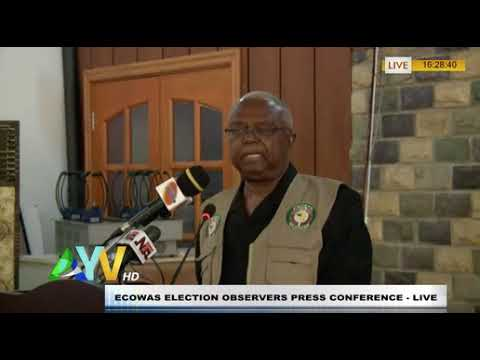 ECOWAS ELECTION OBSERVERS PRESS CONFERENCE