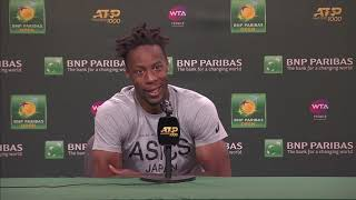 Gaël Monfils Press Conference Following BNP Paribas Withdrawal