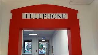 Роспись имитирующая телефонную будку в коридоре. Роспись стены в коридоре офиса.(, 2017-08-31T21:40:44.000Z)