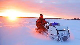 Рыбалка в палатке на Белом море с комфортом Под ногами тает лед