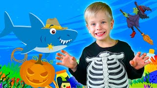 Halloween Baby Shark Dance   Kids Songs and Nursery Rhymes   Halloween Song from Dima Family Show