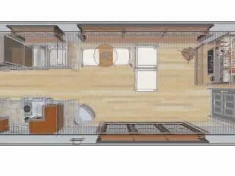 8x40 Shipping Container Home Design - YouTube