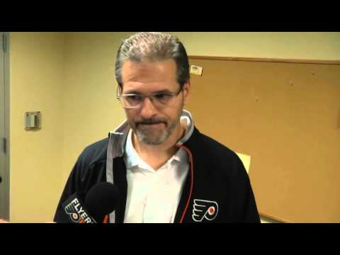 Flyers GM Ron Hextall talks about the decision to place Andrew MacDonald on waivers