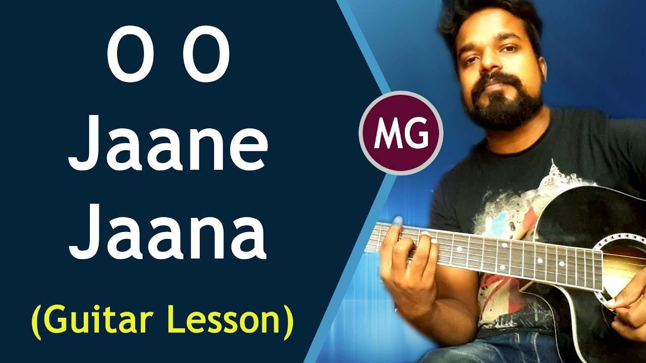 O O Jaane Jaana Guitar Chords Lesson Youtube