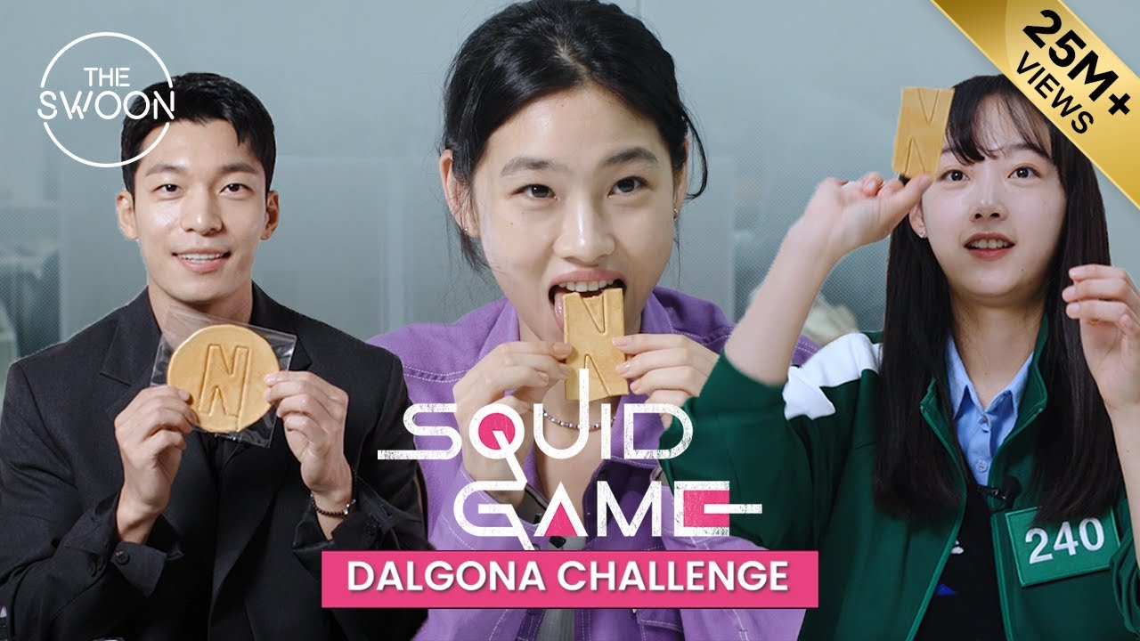 Download Squid Game stars take on the Dalgona Challenge [ENG SUB]