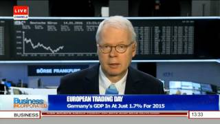 Business Incorporated: Focus On Germany's GDP 14/01/16 Pt.1
