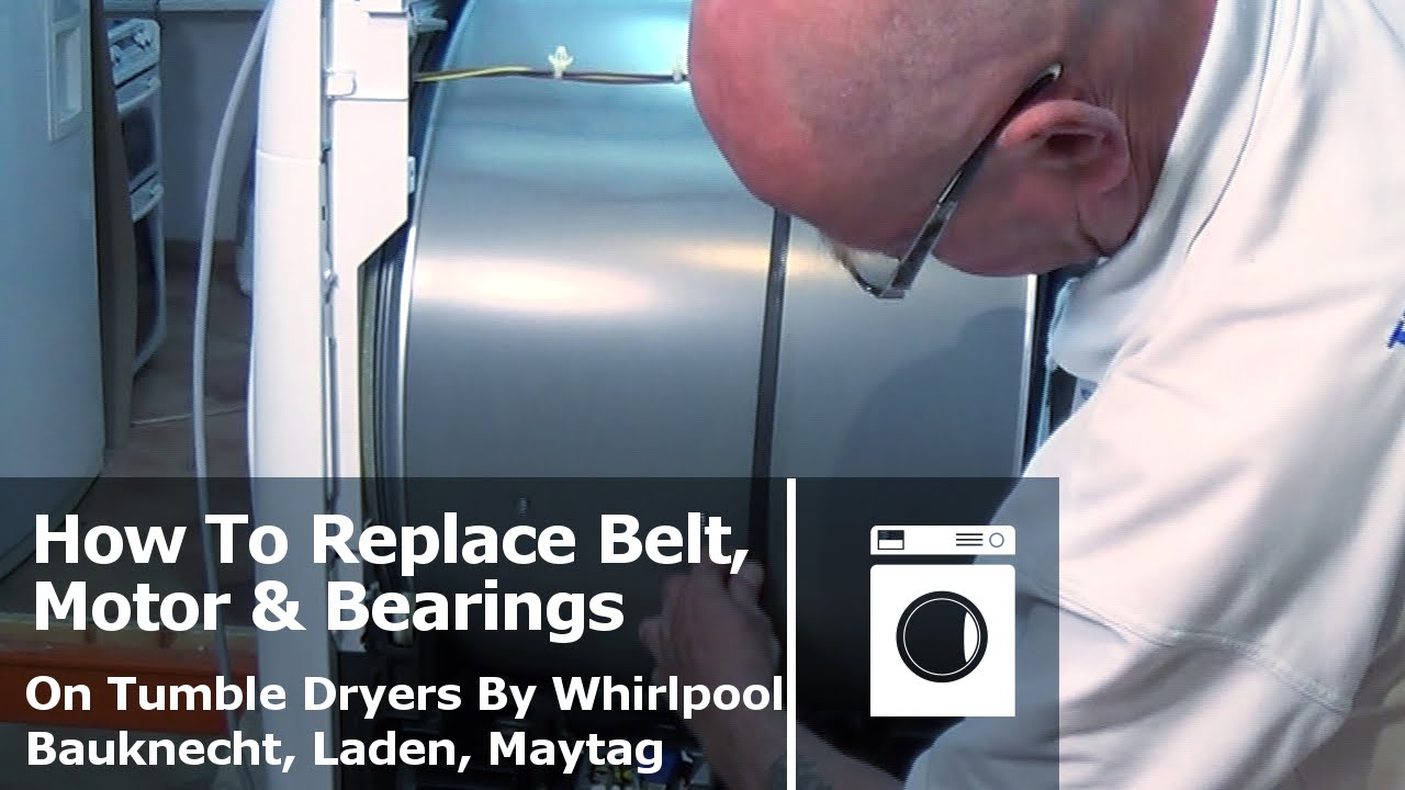 How to replace belt motor or bearings tumble dryers for Replace dryer motor or buy new