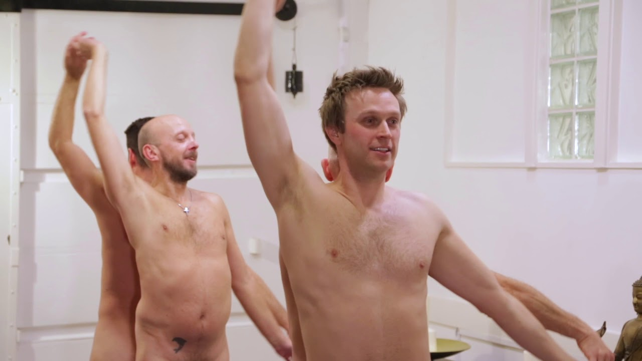 Naked yoga men