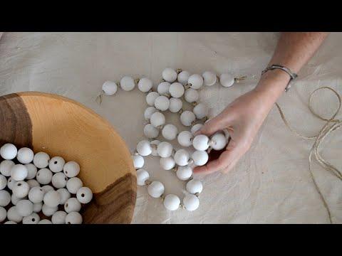 How to Make a Rustic Farmhouse Bead Garland - DIY CRAFT TUTORIAL