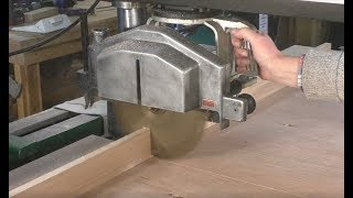 259 Dewalt radial arm saw fence making, fitting and set up