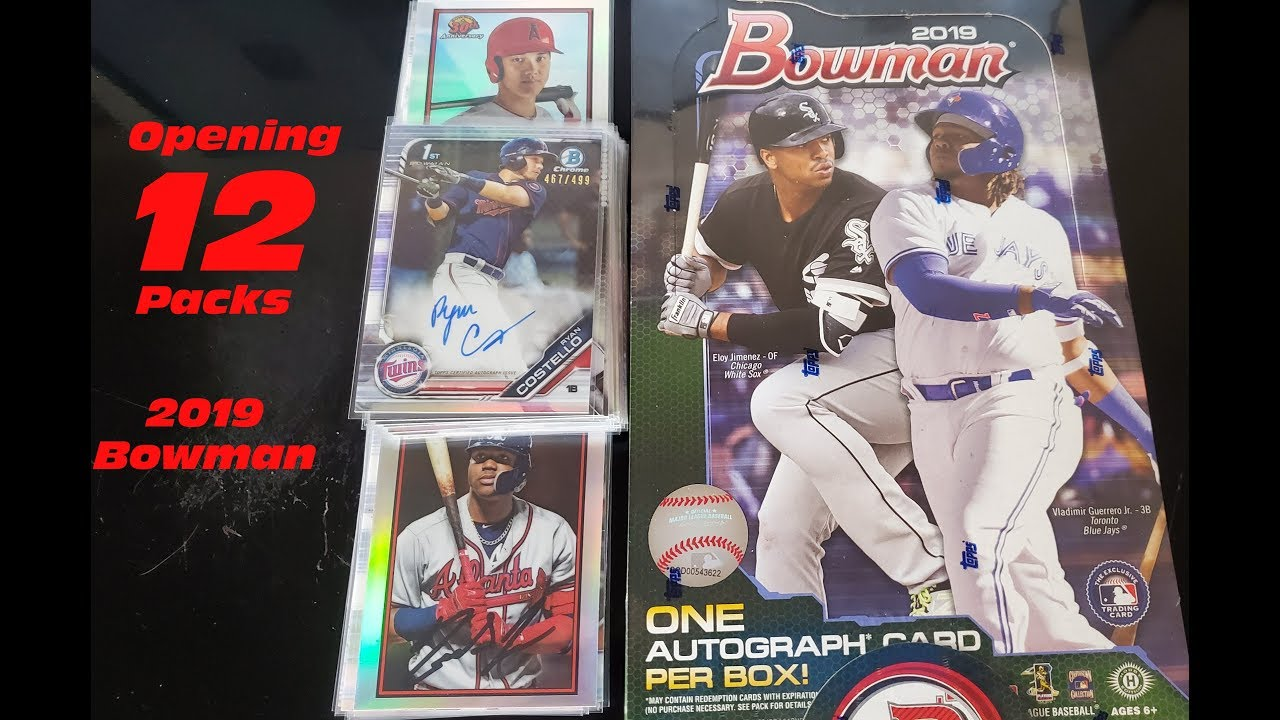 Opening Up 12 Packs Of 2019 Bowman I Found The Worst Auto In The Set