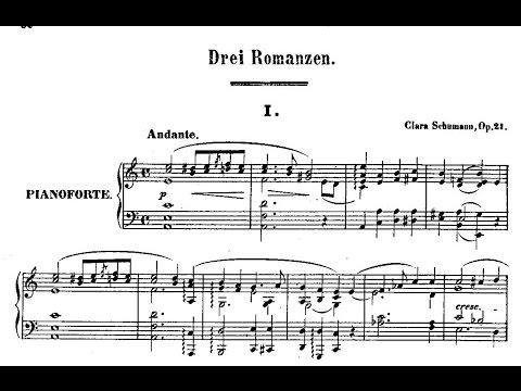 Clara Schumann: Drei Romanzen Op. 21 (1853)