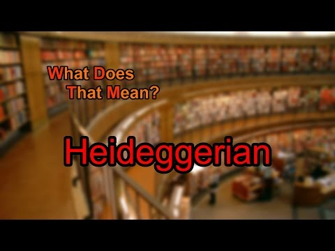 What does Heideggerian mean?