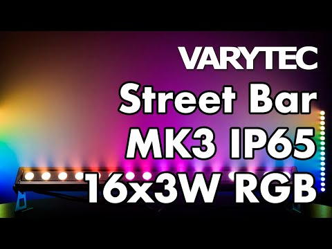 Varytec Street Bar Mk3 Ip65 16x3w Rgb: Cruising Down The Colour Street
