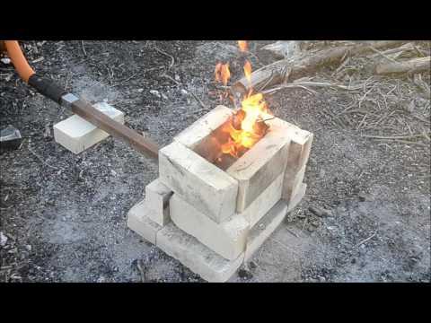 Forging A Stump Anvil