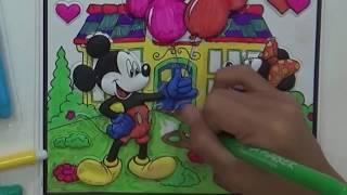 Game bé tô màu con vật chuột Mickey mouse