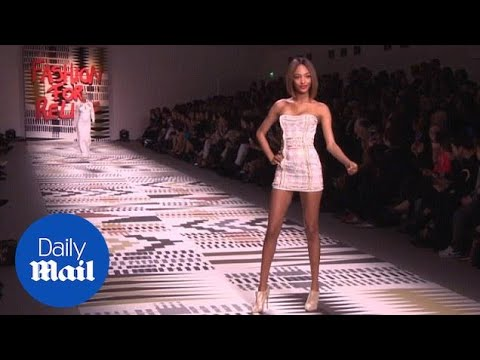 Legs for miles! Jourdan Dunn on Fashion For Relief catwalk - Daily Mail