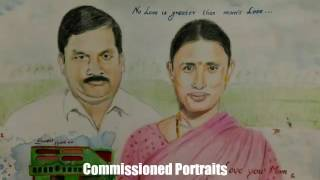 The commissioned portrait works done by Artist Ambica Isukapati. If...