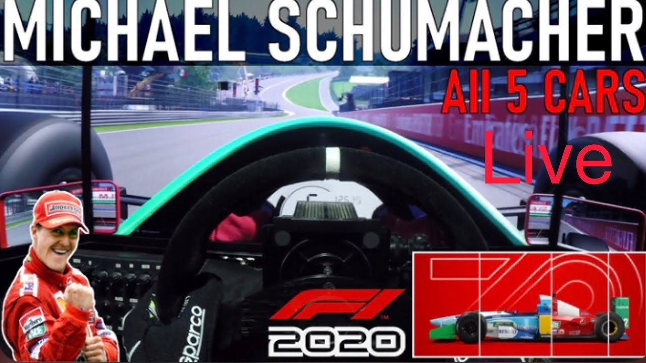 Gros live (f1 2020 ) michael schumacher édition - YouTube