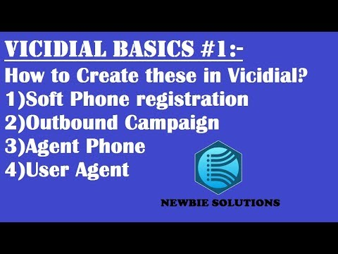 #1 HOW TO CREATE USER AGENT, CAMPAIGN, PHONE & SOFT PHONE REGISTRATION IN VICIDIAL | TUTORIAL |