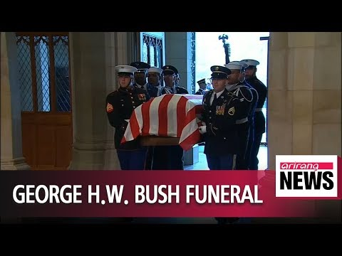 America says goodbye to George H.W. Bush at state funeral in Washington