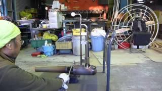Gluhareff Pressure-jet Engine 自作2号機 台車が動く?