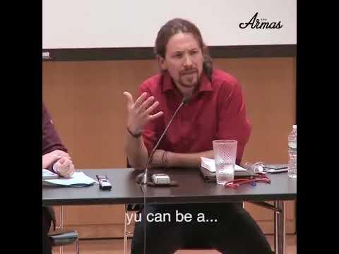 Pablo Iglesias hablando inglés. Nivel C2 según dice su C.V.