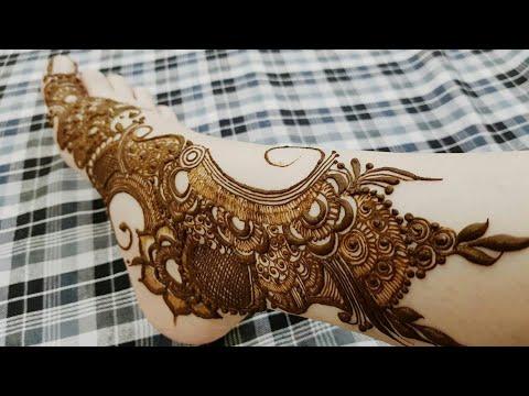 Heavy Tattoo For Leg Beautiful One Side Leg Mehndi Design 2017