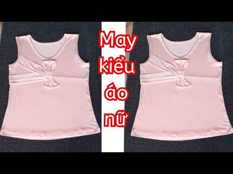 43.Dạy cắt may Kiểu Áo Nữ Vải Thun Thời Trang/Hướng dẫn may áo Kiểu nữ vải thun hè