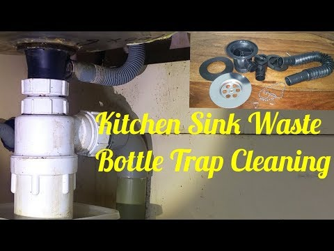 Kitchen Sink Waste/Bottle Trap Cleaning And Fitting