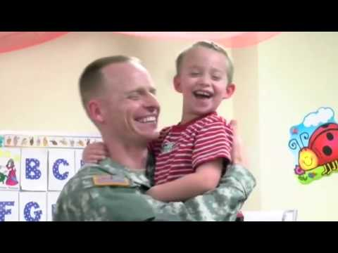 Military dad surprises his 5 kids at school and each has a different, adorable reaction