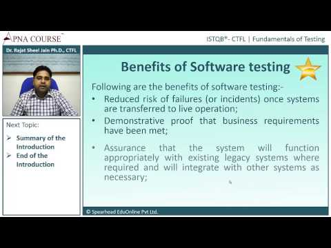 ISTQB - Certified Tester Foundation Level | Benefits of Software Testing