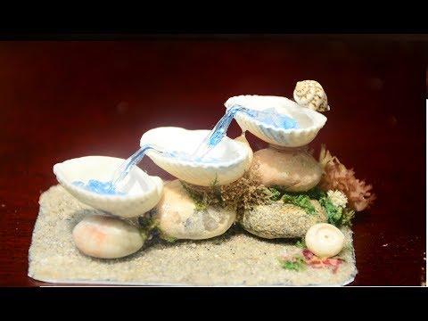 DIY Seashell Fountain - Gluegun and Resin tutorial